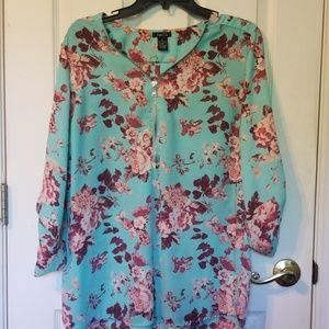 Rue 21 zip up dress shirt